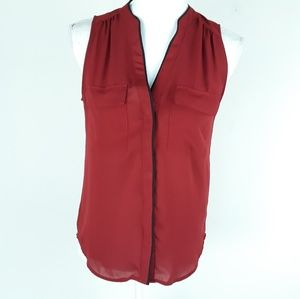 H&M top Size 6 blouse sleeveless button down
